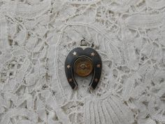 Antique compass fob niello real silver 1900 by Nkempantiques, €24.00
