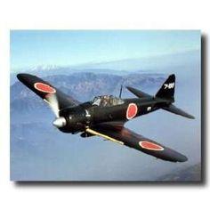japanese military art   Japanese Zero Military Airplane Jet Aircraft Picture Art