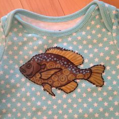 Minnesota Baby Onesie Size 3-6 Months with Fish Appliqué~ babyGap Brand -***One-of-a-Kind***