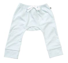 """Your baby boy will love the comfort of these pale blue/white stripe pants. Pair it with the Elephant Tee as a compete outfit. It is sure to impress! 100% Cotton / Machine Washable. """"A Layette range, Hoot Baby is for newborns thru to 12 months. Designed with heaps of personality, superior fabrics, and function in mind, Hoot Baby provides the ultimate in comfort and style"""" $7.95 local shipping, free shipping on all Aust wide orders over $150!"""