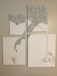 The Giving Tree Canvas Set by JessicaYoungDesigns on Etsy