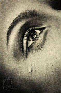 Sad eyes with tears drawings Crying Eye Drawing, Cry Drawing, Painting & Drawing, Drawing Faces, Crying Eyes, Crying Girl, Sad Drawings, Pencil Drawings, Art Tumblr