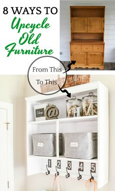 Upcycling ideas for old furniture you already own or found a deal on in a thrift store. Why purchase a costly new piece when you can upcycle? Diy Garden Furniture, Metal Furniture, Repurposed Furniture, Bathroom Furniture, Cheap Furniture, Online Furniture, Furniture Ideas, Luxury Home Decor, Cheap Home Decor