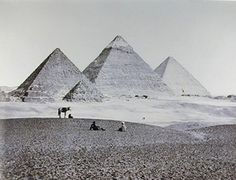 Francis Frith, Pyramids of El-Geezah from the Southwest, 1858; albumen print from a glass negative, 13 in. x 19 in. (33.02 cm x 48.26 cm); Collection SFMOMA, Collection of the San Francisco Museum of Modern Art, fractional gift of Paul Sack, and collection of the Sack Photographic Trust
