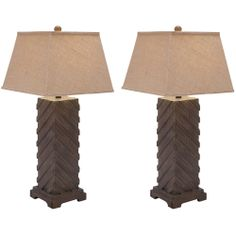 Casa Cortes Luxe Handcrafted Rustic Wood 31-inch Table Lamps (Set of 2) | Overstock.com Shopping - The Best Deals on Table Lamps