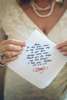 sweet note to mom   Crystal Stokes #wedding