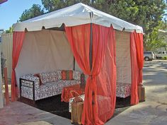 Red, white, and black Outdoor Furniture, Outdoor Decor, Tents, Asian, Weddings, Bed, Inspiration, Black, Home Decor