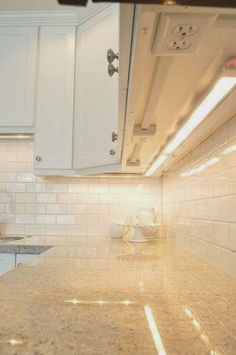 34 Relatively Simple Things That Will Make Your Home Extremely Awesome,,Install your outlets underneath your cabinets so you don't ruin your backsplash.