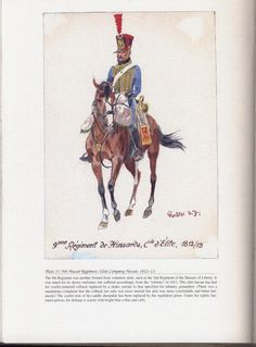 Hussars: Plate 37: 9th Hussar Regiment. Elite Company Hussar, 1812-13.