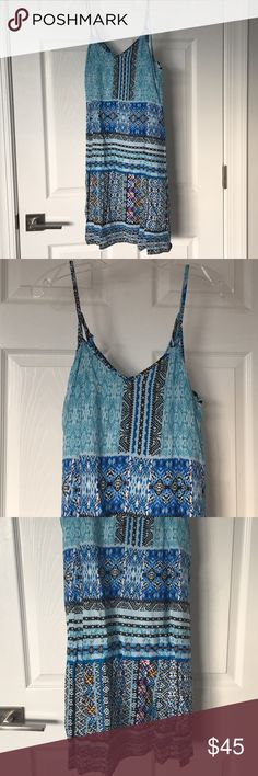 NWT Loveriche blue colorful cover up dress NWT Loveriche blue colorful cover up dress. Cutest details on the back straps! loveriche Dresses Mini