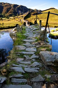 Slaters Bridge Towards Little Langdale, England