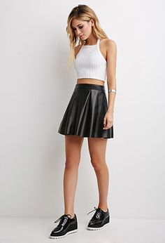 Pleated Faux Leather Skirt | Forever 21 - 2000082699