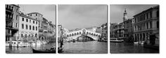 3-Piece Rialto Bridge Framed Photographic Print Set