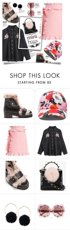 """""""Mini Bags : Pink Way"""" by couna ❤ liked on Polyvore featuring Alexander McQueen, MSGM, Les Petits Joueurs and Dolce&Gabbana"""