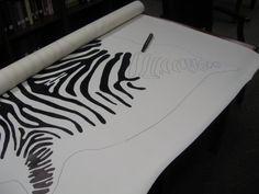 Bromeliad: How to make a faux zebra hide rug - Fashion and home decor DIY and inspiration