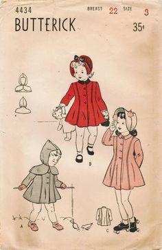 1940s Butterick 4434 FF Vintage Sewing Pattern by midvalecottage