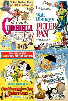 Disney Vintage Movie Poster Magnets  Cinderella by MyGeekBoutique, $9.95