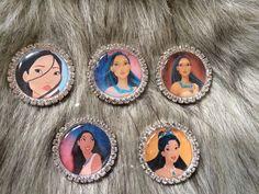 Items similar to Pocahontas Metal Rhinestone- Resin Flatback - Hair bow center on Etsy Disney Buttons, Pocahontas, Hair Bows, Resin, Trending Outfits, Unique Jewelry, Handmade Gifts, Metal, Vintage