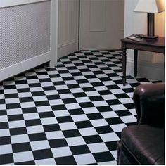 Rhinofloor Elite Classic Tiles Pisa Black White 5765016 Vinyl Flooring