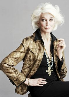 Carmen Dell'Orefice is an American model and actress, born in New York. She is known within the fashion industry for being the world's oldest working model at the age of 81. She was on the cover of Vogue at the age of 15 and has been modelling ever since.