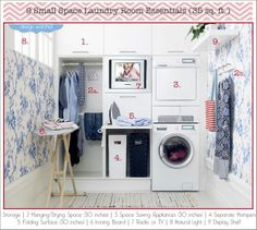 9 small space laundry room essentials.