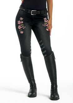 Limited Edition Pink Floral Denim Breeches