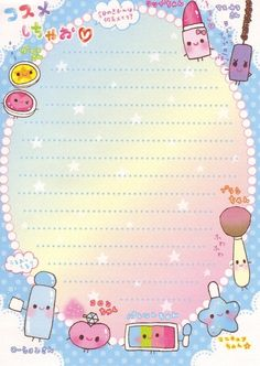 Kawaii stationery #kawaii #diy #draw