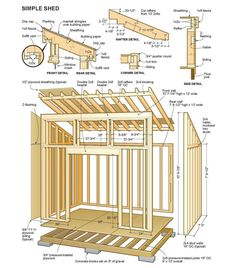 8x12 Lean To Shed Plans 01 Floor Foundation Wall Frame Shed In 2019