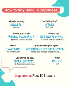 How to Say Hello in Japanese: Guide to Japanese Greetings Free Japanese Lessons, Japanese Language Lessons, Japanese Language Proficiency Test, Korean Language Learning, Learning Japanese, Learning Italian, Japanese Quotes, Japanese Phrases, Japanese Sentences