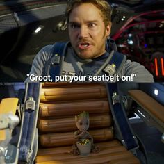 Ahh, Baby Groot is so chill eatin' his food like nobody's business--I love him.