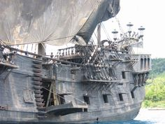 The Black Pearl anchored on Dominica's northeast coast.