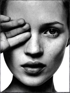 Kate Moss <3--this is when I loved Kate.  She was new on the scene...fresh faced..freckles and all!