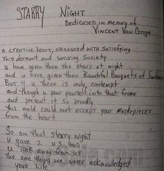Starry night essays