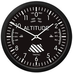 Altimeter Wall Clock...amazing gifts for pilots