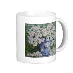 Soft White Flower Design Classic White Coffee Mug