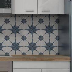 EliteTile Salerno x Porcelain Field Tile in White/Blue Bathroom Flooring, Kitchen Flooring, Bathroom Wall, Basement Bathroom, Bathroom Furniture, Kitchen Backsplash, Shower Floor, Tile Floor, Patchwork Tiles