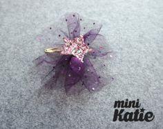 Mini Katie mono cinta de Bow Barrette del pelo por LoveminiKatie
