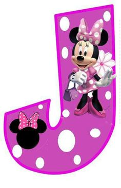 Letter J. Minnie Mouse