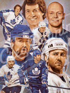 Artwork of Toronto Maple Leaf Captains by Greg Banning
