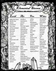 Find images and videos about witch, wicca and pagan on We Heart It - the app to get lost in what you love. Crystals And Gemstones, Stones And Crystals, Earth Air Fire Water, 5 Elements, Wiccan Spells, Magick, Wiccan Beliefs, Witch Craft, Book Of Shadows