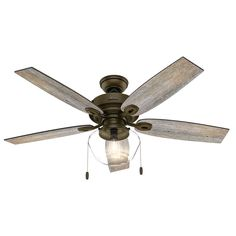 Hunter Crown Canyon 52 in. LED Indoor/Outdoor Noble Bronze Ceiling Fan