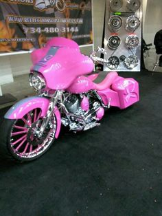 Pink Motorcycle...if I had this, then *YES* I would ride on my own!