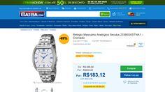[Casas Bahia] Relógio Masculino Analógico Seculus 23366G0STNA1 - Cromado Prata - de R$ 245,89 por R$ 183,12 (25% de desconto)