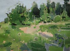 Cedar Grove Orignal Landscape Painting on Paper by Paintbox
