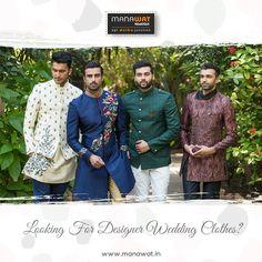 Wedding Sherwani, Churidar, Stylish Men, Mens Suits, Wedding Designs, Formal, Coat, Clothes, Mens Suits Style
