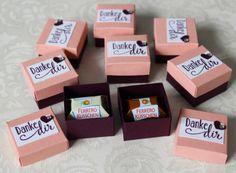 Gastgeschenk Ferrero-Küsschen-Verpackung Mini Stampin Up