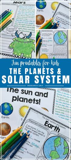 Planets - Solar System Research Unit - Let your 2nd, 3rd, and 4th grade classroom or homeschool students enjoy this 60+ page resource that focuses on our solar system, outer space, and the planets. Mercury, Venus, Earth, Mars, Jupiter, Saturn, Uranus, and Neptune are covered. This research unit is great for a group based project, as an interactive notebook activity, to supplement your science curriculum, and as individual work. Let students investigate  to find the answers and learn more!