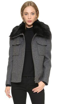 Designer Clothes, Shoes & Bags for Women Bomber Coat, Leather Jacket, Theory, Blazer, Stylish, My Style, Long Sleeve, Designer Jackets, Clothes