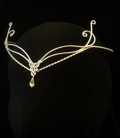 Celtic Handfasting Hobbit wedding elven tiara circlet pagan Swarovski LOTR. £25.99, via Etsy.