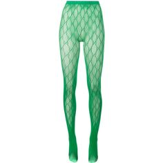 Gucci Gucci Gg Logo Tights ($95) ❤ liked on Polyvore featuring intimates, hosiery, tights, green, green stockings, gucci, elastic stockings, green lingerie and green pantyhose